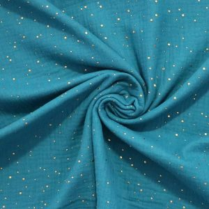 teal double gauze from Bobbins and buttons