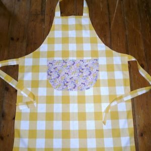 cotton poplin apron for sale from Bobbins and Buttons