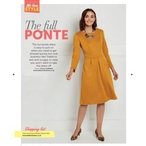 ponte roma dress from Bobbins and Buttons