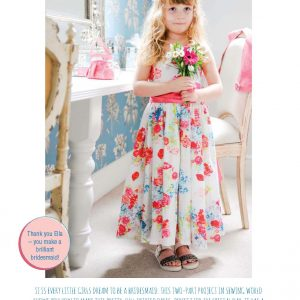 Little girls floral dress set for sale from Bobbins and Buttons