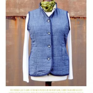 reversible ladies gilet by Bobbins and Buttons