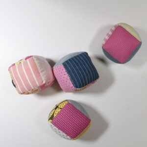 handmade baby blocks from Bobbins and Buttons