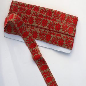 Red and gold lurex trim from Bobbins and Buttons