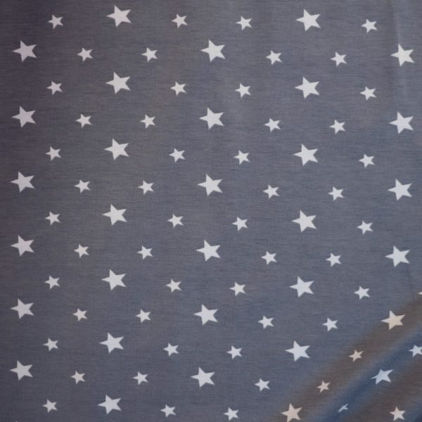 grey blue star jersey from bobbins and Buttons