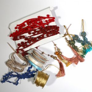 Mixed bag of trims from Bobbins and Buttons