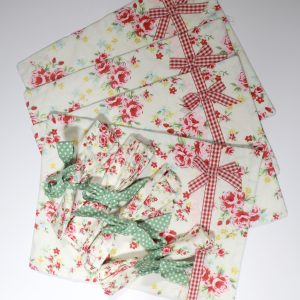 Place mats and napkins from Bobbins and Buttons