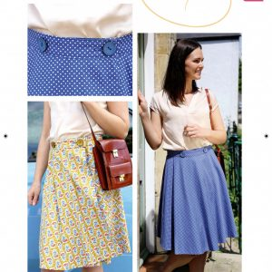 Reversible wrap skirt from Bobbins and buttons
