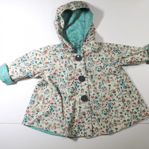 Reversible little girls jacket for sale from Bobbins and Buttons