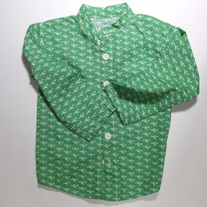 kids stand collar shirt from Bobbins and Buttons