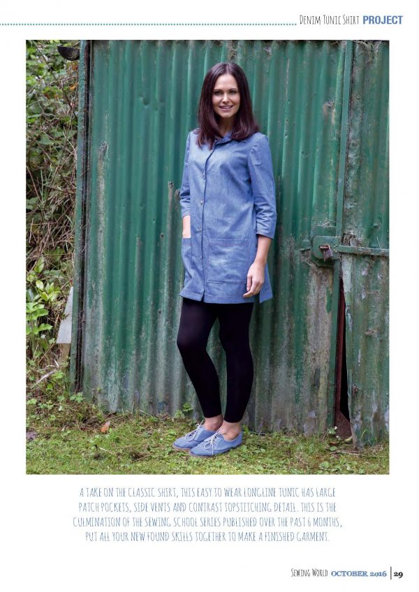 shirt tunic from Bobbins and Buttons