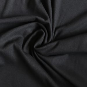 Black rib from bobbins and buttons
