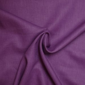 plum linen dressmaking fabric from Bobbins and buttons