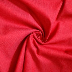 red denim fabric from Bobbins and buttons online shop