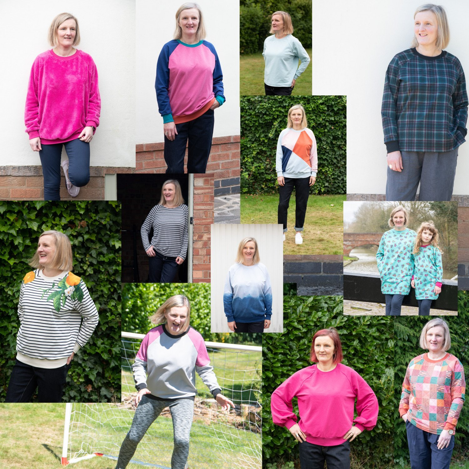 Lynn sweatshirt sewing pattern from Bobbins and Buttons