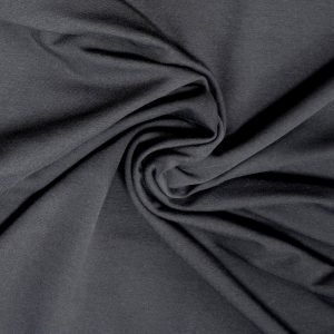 Black french terry fabric from Bobbins and buttons online shop