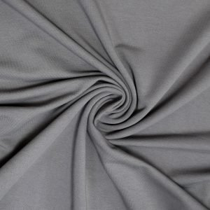 grey french terry fabric from Bobbins and buttons online shop