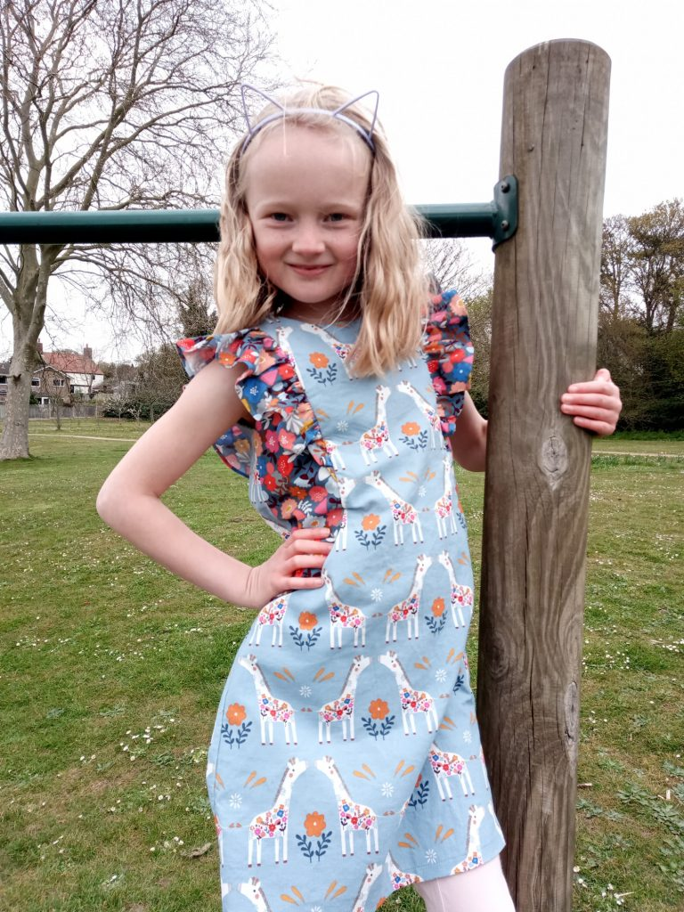 Alice a girls dress sewing pattern from bobbins and buttons