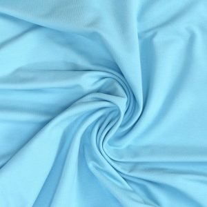 sky blue french terry fabric from Bobbins and buttons online shop