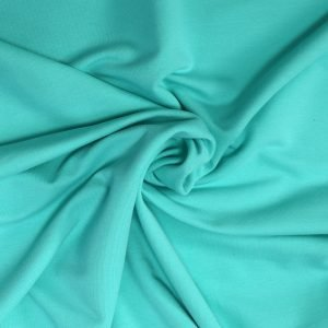 mint french terry fabric from Bobbins and buttons online shop