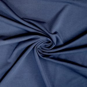 navy french terry fabric from Bobbins and buttons online shop