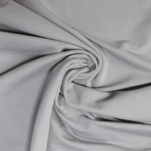 pale grey french terry fabric from Bobbins and buttons online shop