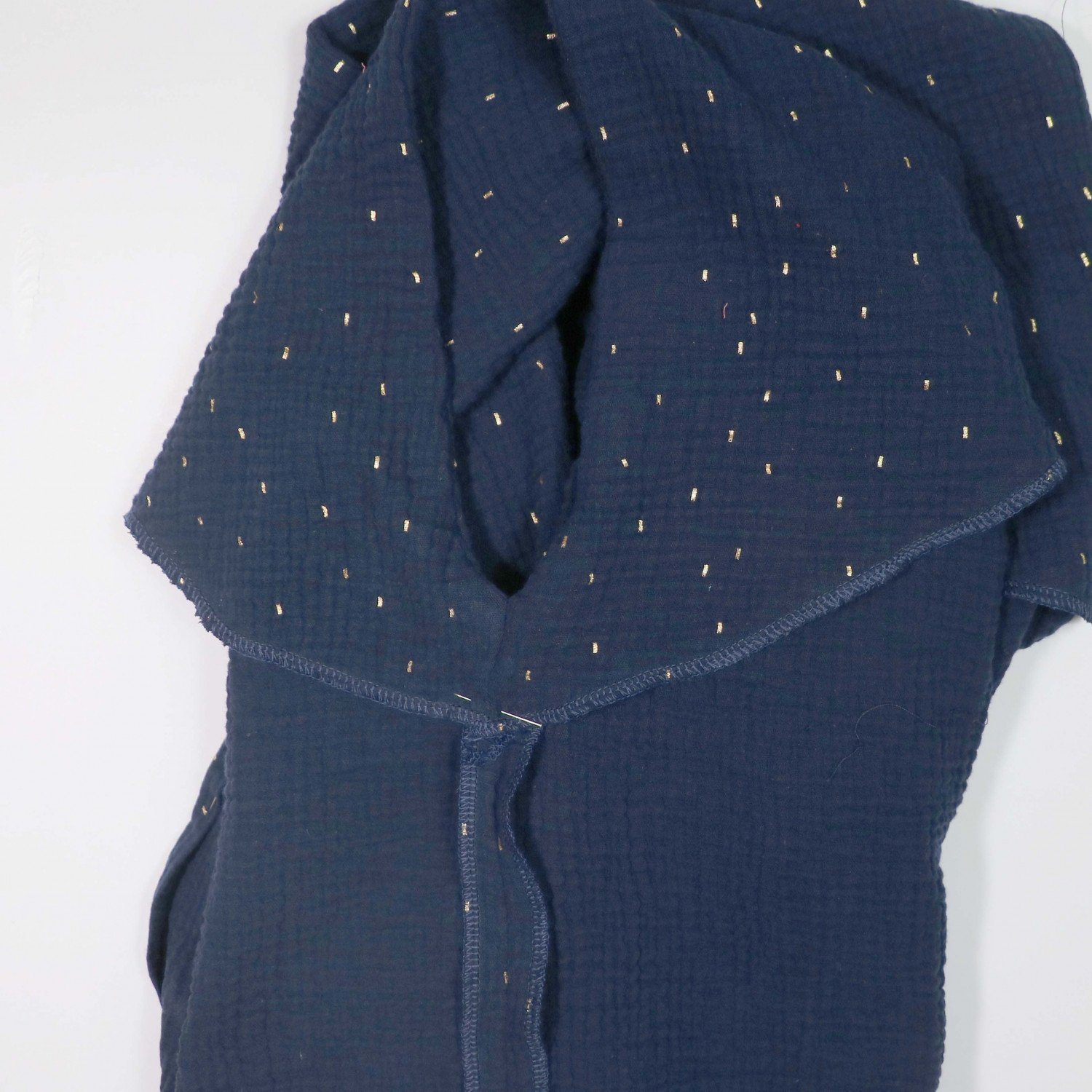 Free Frill detail square neck top pattern from Bobbins and Buttons