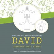 David raincoat extension lining pack sewing pattern from Bobbins and Buttons