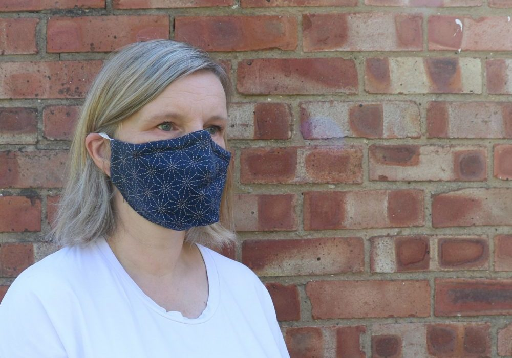 how to make a face mask from Bobbins and buttons
